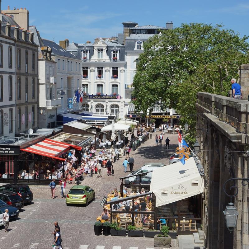 Place Chateaubriand à Saint-Malo
