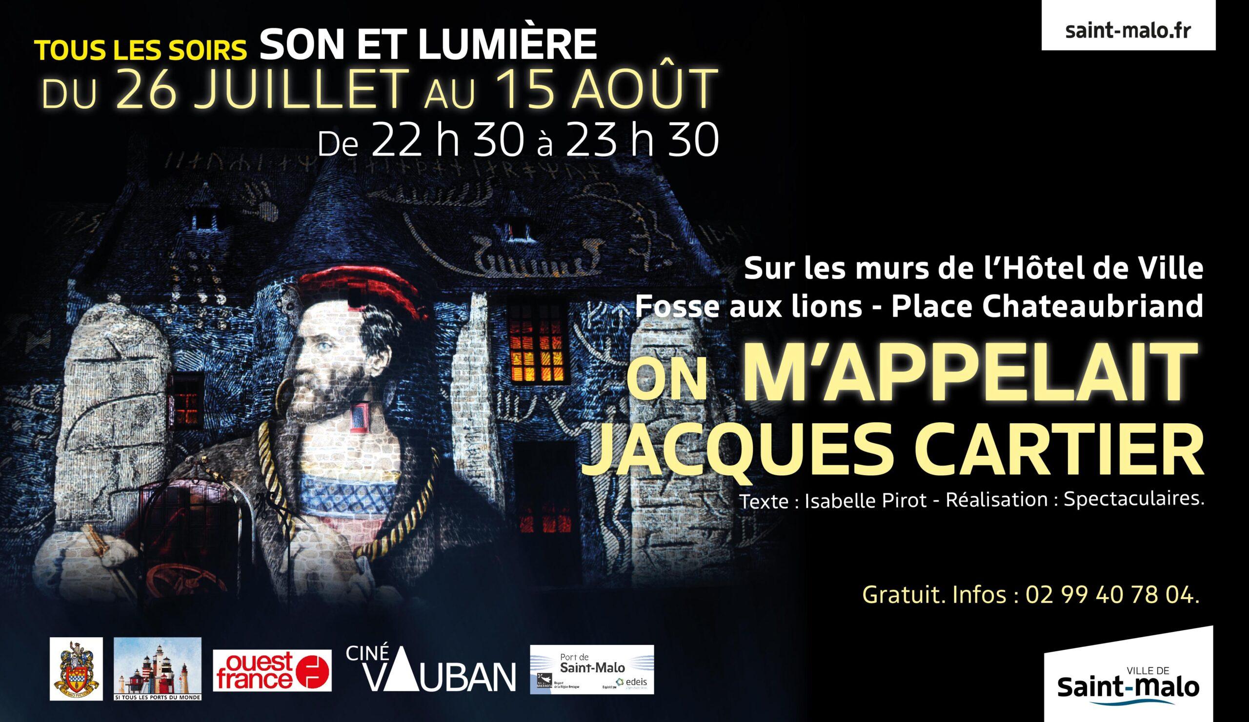 Spectacle son et lumière Jacques Cartier